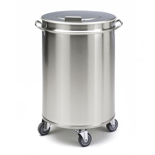 Stainless steel bins stainless steel bins sammic ware washing for Poubelle cuisine inox roulettes