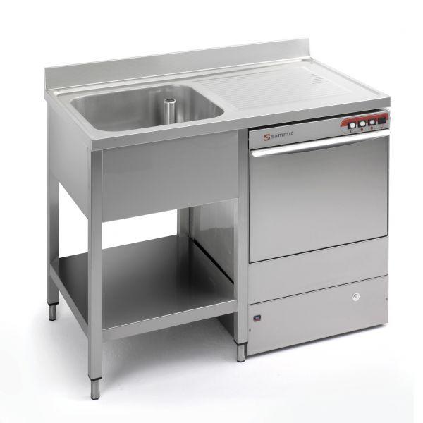 Industrial Sink Uk : SINK UNITS: WORKTOPS - Industrial sinks. Sammic Static Preparation and ...