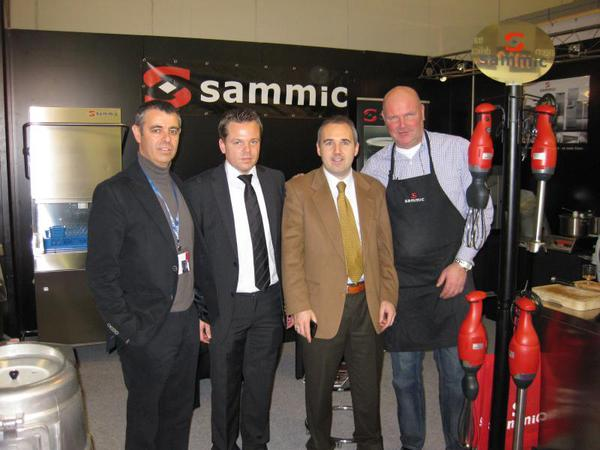 Our Team at the Show: Xabier Goenaga (Commercial Director), Chris Tophoff (Sales Manager in Holland), Alfonso Acha (Export Director), John (expert in Veg. cutters)