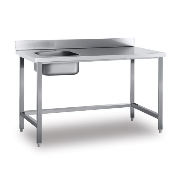 work tables with upstand and sink work tables sammic snack bar pizzeria. Black Bedroom Furniture Sets. Home Design Ideas