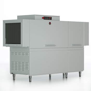 Rack conveyor dishwashers